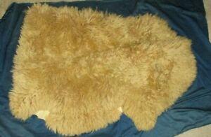 """genuine New Zealand sheep wool fleece hide pelt, 37"""" by 26"""""""