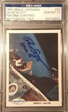 1990 Dave Scott Apollo 15 Space Shots Ventures Signed PSA/DNA GEM MINT 10 AUTO