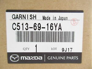 Genuine OEM Mazda C513-69-16YA Left Corner Molding Garnish 2012-2015 5