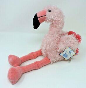 """Princess Soft Toys Malibu Flamingo Pink Plush 14"""" Soft Toy Stuffed Animal"""