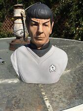 Vintage Star Trek 1979 Mr. Spock  Bust Statue Booze Decanter Paramount Grenadier