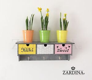 Daisy - Decorative Wall Hanger with 3 Drawer Storage Solution