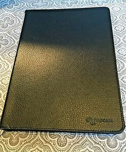 Samsung Galaxy 10.1 Tablet Case Black Faux Leather Protective Shell Skin #165