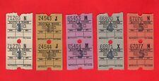 Booth & Fisher Motor Services: Halfway, Sheffield  ~ 5 Ultimate Tickets - c.1970