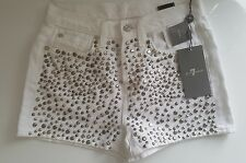 """BNWT Seven of All Mankind Blanc Rivets Shorts/shorty.W25"""". £ 320.85% Off RRP!"""