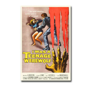 I Was a Teenage Werewolf by Hollywood Photo Canvas Giclee Art (36in x 24in)