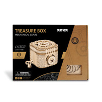 New Hands Craft Puzzle DIY Wooden Puzzle Mechanical Windup: Treasure Box
