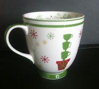 STARBUCKS Coffee Mug 2006 Holiday Topiary Ceramic 16 Fl. oz. Red Green White