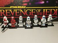 CLONES VARIETY lot 7 minifigures Rex Jesse Captain Wolfe troopers Star Wars USA