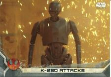 Star Wars Rogue One Series 2 Gray Base Card #18 K-2SO Attacks