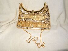 Vintage Gold Formal Purse With Long Gold Chain