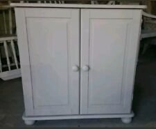 PAINTED SOLID PINE LINEN/PANTRY STORAGE CUPBOARD
