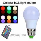 3W/5W/10W LED RGB Globe Lamp Colour Changing Light Bulb E27 + IR Remote Control