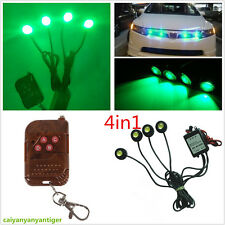 4in1 Green Emergency Flash Hawkeye Grille Strobe Warning Light & Remote Control