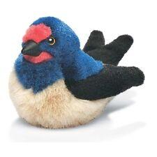 AUDUBON peluche oiseau HIRONDELLE RUSTIQUE sonore CHANT D'OISEAU
