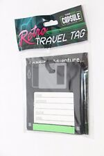 THINKGEEK CAPSULE EXCLUSIVE RETRO FLOPPY DISC TRAVEL TAG LUGGAGE TAG NEW