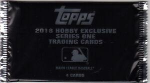 2018 Topps Series 1 Baseball Sealed Silver Pack Chrome Refractor 5 Pack Lot 1983