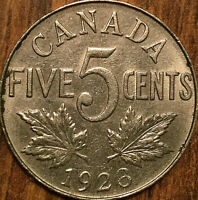 1923 CANADA 5 CENTS GEORGE V COIN - Excellent example!