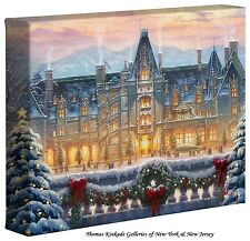 Thomas Kinkade Christmas at Biltmore 8 x 10 Gallery Wrapped Canvas