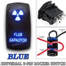 FLUX CAPACITOR Blue LED Toggle Rocker Laser Switch 5 PIN ON-OFF Boat Marine Car