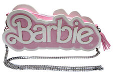 Officially Licenced Pink Barbie Logo Shaped Handbag