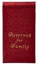 Embroidered Jacquard Pew Reserved for Family Cloth Burgundy NEW (YS401Brg)