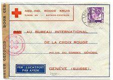 NED INDIE DUTCH INDIES 1940-12-12  RED CROSS-CENSOR  PM-MEDAN  TO SWITZERLAND