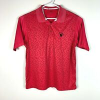 Adidas Premium Red Golf Polo Shirt Size Men's Large 'The Grand'