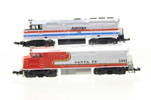 N Life-Like 2x US Diesellok 5941 Santa Fe 314 Amtrak analog/J44