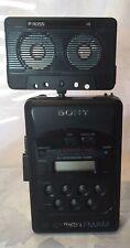 Sony Walkman Radio Cassette Player WM-F2031 with instructions & Ross Speaker