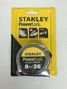 Stanley 8m x 25mm PowerLock Tape Measure -  0-33-526
