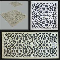 Dekorpaneele mit Ornament Blütenkreuz Holz 3mm - Verkleidung für Wand und Decke