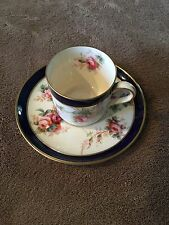 SPODE COPELAND'S CHINA ENGLAND DEMITASSE CUP AND SAUCER & VERY PRETTY