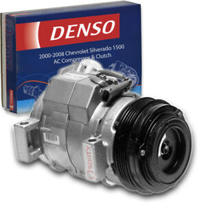Denso AC Compressor & Clutch for 2000-2008 Chevrolet Silverado 1500 4.8L rw