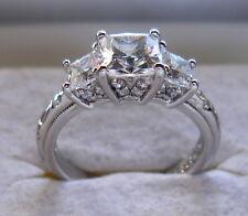 QVC TACORI Epiphany Sterling Silver Diamonique Princess Cut Ring 2.15 TCW Size 9