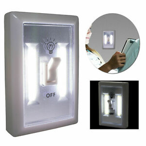 LED Wall Lighted Switch Wireless Instant Light Night Emergency Battery Operated