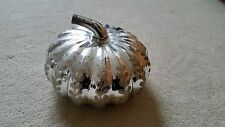 Pottery Barn Etched Mercury Glass Pumpkin (Size: Medium)