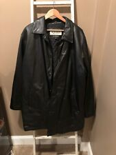 WILSONS The Leather Experts M. Julian Men's Black Leather Jacket Sz XLT Cd/Cell