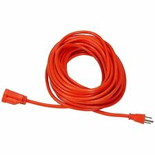 50ft Vinyl Out Door Extension Cord 13Amp 1625W Plug Power Socket Orange Wire New