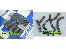 aluminum Radiator & BLAC HOSE Honda CR500 CR500R CR 500R 1985-88 86 87 1986 1987