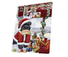 Schnauzers Christmas Dog Tempered Cutting Board (Large) Db1376