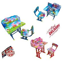 Kids Children Home Study Table Storage Cartoon Superhero Desk Chair Set UK Post