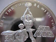 1- OZ.999 PROOF SILVER COIN STAR WARS  (LUKE SKYWALKER PRINCESS LEIA ) + GOLD