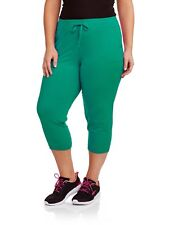 Danskin Now Women's Plus Patch Pocket Pant Green Size 1X (16) --B3--