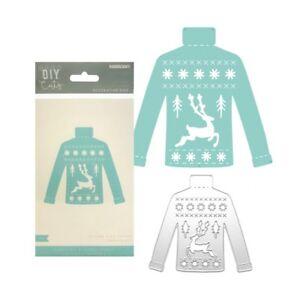 Christmas Knit Sweater Metal Die Cut Kaisercraft Cutting Dies DD3307