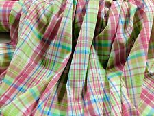 """Pink Yarn Dyed Plaid 100% Cotton Lawn 56"""" Wide Fabric by the Yard"""