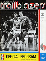 1972-73 NBA DETROIT PISTONS vs. PORTLAND TRAIL BLAZERS GAME PROGRAM (UNSCORED)