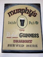 Vintage Murphy's Irish Pub 1904 Perfect Guinness Draught Served Here Beer Sign