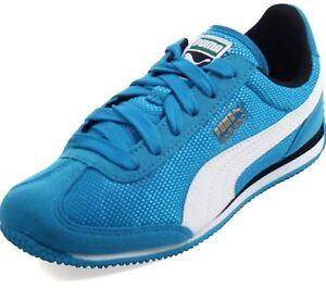 New NIB Puma Whirlwind Mesh Jr Blue Jewel Aqua Youth Sneakers 357232 07