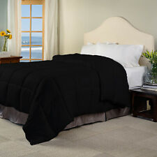 Heavy Winter Egyptian Cotton Duvet/Quilt 300 GSM Black Striped US Twin XL Size